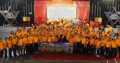 马来西亚121名林氏宗亲们在总会长丹斯里林福山的带领下出席缅甸世界林氏恳亲大会。