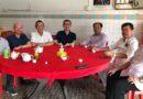 总会长丹斯里林福山以及荣誉总会长林振华,总秘书林纪钟在巴生与行动党雪州秘书长YB刘天球议员早餐交流